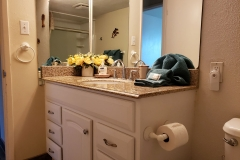 New bathroom vanity with granite counter top