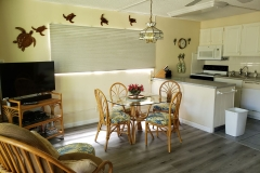 Dining area, 40 inch TV and upgraded kitchen