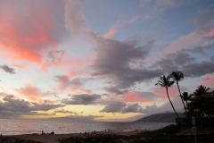 Kamaole II beach sunset