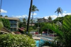 Behr's Escape Maui Condo Lanai view to Mt Haleakala