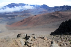 Top of Mt Haleakala and its crater