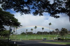 Lahaina  golf course and rainbow
