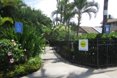 Entrance to pool and office