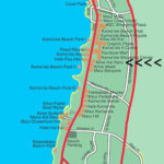 Map of South Kihei and our location of Kihei Kai Nani resort