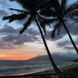 Sunset time at Kamaole II Beach